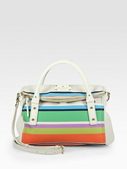 Kate Spade New York - Leslie Striped Canvas Satchel