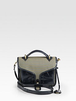 Opening Ceremony - LA Mixed-Media Top Handle Bag
