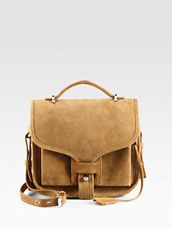 Opening Ceremony - Ace Suede Top Handle Bag