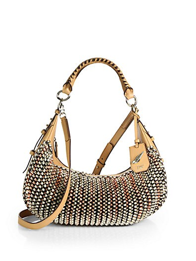 Sutra Knit Leather Hobo