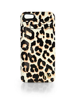 Diane von Furstenberg - Stay Connected Leopard-Print Hardcase For iPhone 5