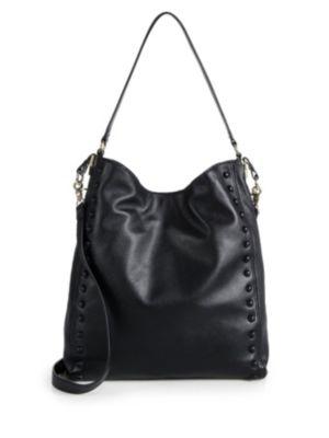 loeffler randall female 188971 studded leather hobo bag