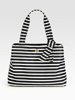 Kate Spade New York - Maryanne Flatiron Striped Nylon Shoulder Bag