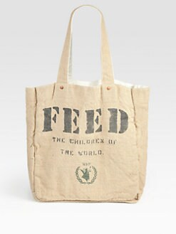 FEED - FEED 1 Reversible Cotton and Burlap Tote Bag