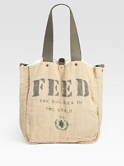 FEED - FEED 2 Cotton and Burlap Messenger Bag