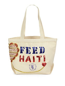 FEED - Sequined Canvas Bag