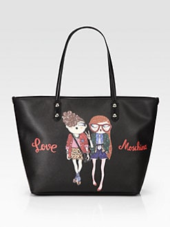 Love Moschino - Charming Hipster Girls Tote Bag