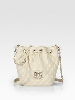 Love Moschino - Quilted Drawstring Leather Shoulder Bag