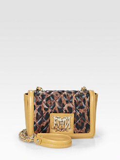 Love Moschino - Leopard Quilted Mini Leather Shoulder Bag