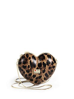 Love Moschino - Borsa Tracoll Coated Canvas Heart Clutch