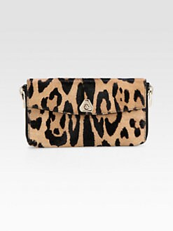 Alexander Wang - Leopard-Print Haircalf Continental Wallet