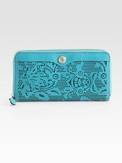 Rebecca Minkoff - Luma Large Zip-Around Laser Cut Bridle Wallet