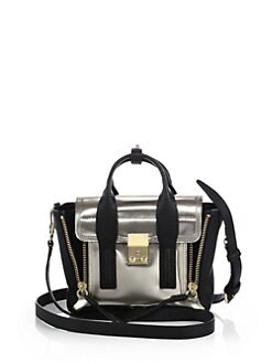 3.1 Phillip Lim - Excl Mini Mixed-Media Pashli Satchel