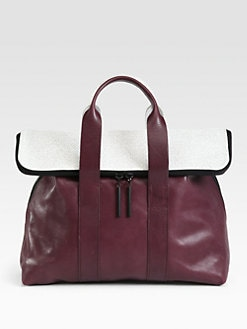 3.1 Phillip Lim - 31 Hour Two-Tone Top Handle Bag