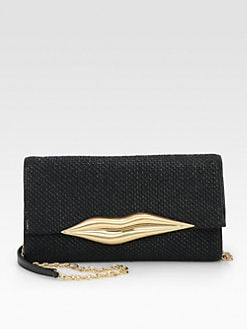 Diane von Furstenberg - Carolina Raffia Lip Clutch