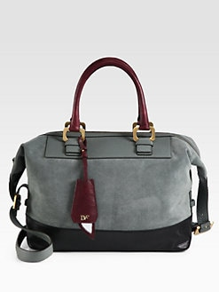 Diane von Furstenberg - Drew Colorblock Mixed-Media Satchel