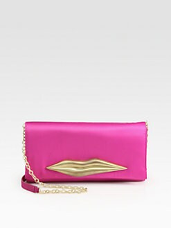 Diane von Furstenberg - Carolina Satin Lip Clutch