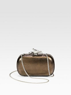 Diane von Furstenberg - Lytton Metallic Raffia Box Clutch