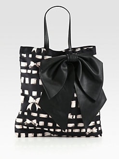 RED Valentino - Printed Nylon Bow Tote