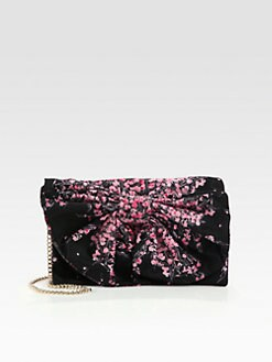RED Valentino - Floral Printed Nylon Bow Clutch