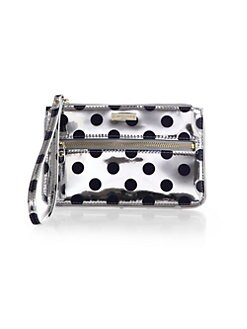 Kate Spade New York - Carlisle Street Bee Polka Dot Metallic Leather Wristlet