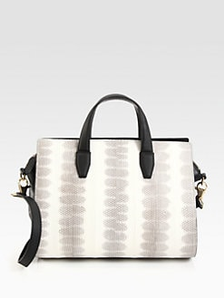 Alexander Wang - Pelican Patent Snakeskin Satchel