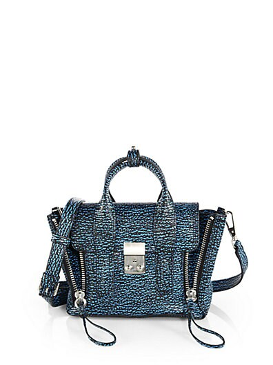 Pashli Mini Bicolor Stamped Satchel