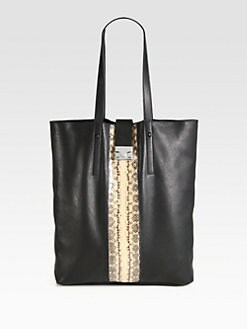 Loeffler Randall - Leather and Snakeskin Tote
