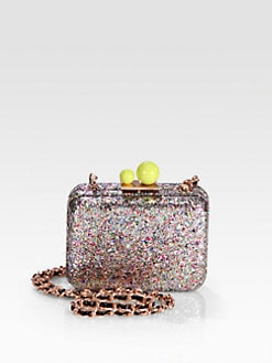 Sophia Webster - Azealia Metallic Glitter Convertible Clutch