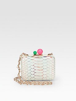 Sophia Webster - Azealia Python Convertible Box Clutch