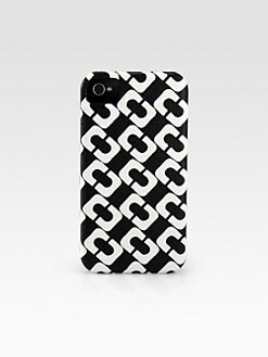 Diane von Furstenberg - Link Pattern Leather Hardcase for iPhone 4/4s