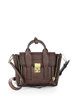 3.1 Phillip Lim - Pashli Mini Shark-Embossed Satchel