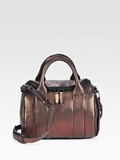 Alexander Wang - Rockie Pebble Metallic Leather Satchel