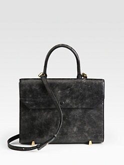 Alexander Wang - Chastity Distressed Leather Shoulder Bag