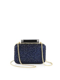 Diane von Furstenberg - Tonda Small Crystal & Patent Leather Clutch