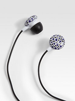 Diane von Furstenberg - Stone Leopard Print Earbuds