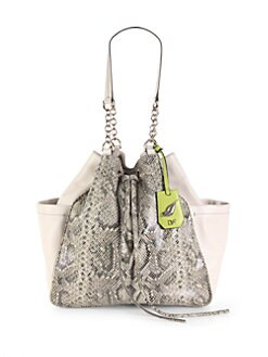Diane von Furstenberg - Python-Embossed Leather Tote
