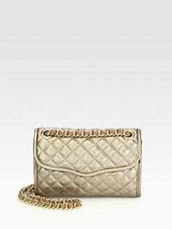 Rebecca Minkoff - Metallic Mini Quilted Affair Shoulder Bag