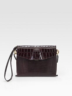Alexander Wang - Lydie Croc-Embossed Wristlet