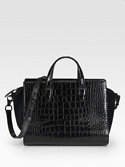 Alexander Wang - Croc-Embossed Pelican Satchel
