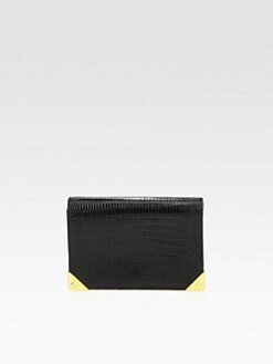 Alexander Wang - Prisma Biker Crocodile-Embossed Clutch