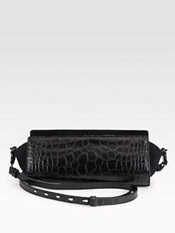 Alexander Wang - Pelican Croc-Embossed Shoulder Clutch