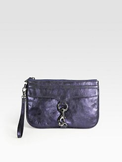 Rebecca Minkoff - Skinny Metallic Mac Wristlet