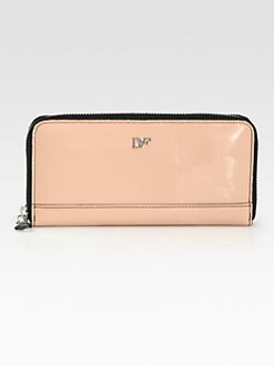 Diane von Furstenberg - Patent Leather Zip-Around Wallet