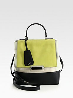 Diane von Furstenberg - 440 Leather Colorblock Top Handle Bag