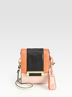 Diane von Furstenberg - Parker Colorblock Mini Mixed-Media Shoulder Bag