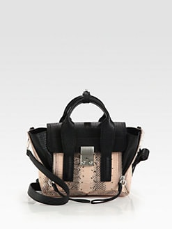 3.1 Phillip Lim - Pashli Mini Snakeskin Satchel