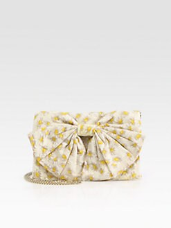 RED Valentino - Daisy Print Cotton Convertible Clutch