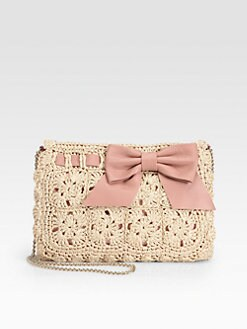 RED Valentino - Crochet Raffia Clutch