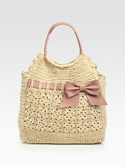 RED Valentino - Crochet Raffia Tote